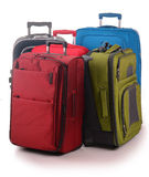 Large suitcases isolated on white Stock Photography