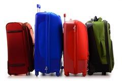 Large suitcases isolated on white Royalty Free Stock Image