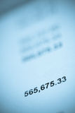 Large sum-o- invoice or savings Royalty Free Stock Images