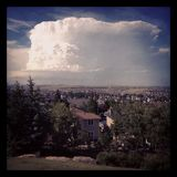 Large summer storm cloud Royalty Free Stock Photos