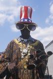 Large sunglasses, patriotic hat costume Stock Photo