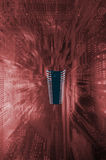 Large surreal microchip and motherboard Royalty Free Stock Photos