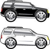Large SUV stylized Royalty Free Stock Images