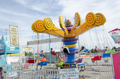 Large swing ride at fair Stock Images