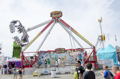 Large swing ride at fair Stock Photo