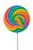 Large swirl lollipop. Isolated on white Stock Photos