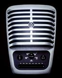 Large and symmetric classic microphone for singer royalty free stock photography