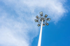 Large tall high outdoor spotlights Royalty Free Stock Photography