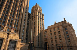 Large tall stone building Royalty Free Stock Photography
