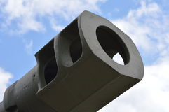 Large tank muzzle brake. Royalty Free Stock Photos