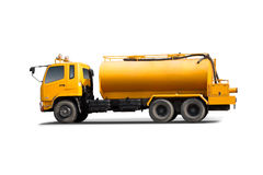 Large tank truck  with white background. Royalty Free Stock Image