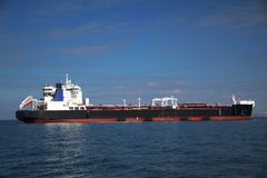 Large tanker on the high seas Stock Photo