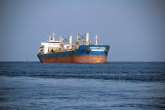 Large tanker on the high seas Stock Photos