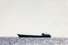 Large  tanker ship in open sea Stock Image