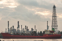 Large tankers unloading crude oil Royalty Free Stock Photo