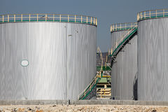 Large tanks. For petrol and oil stock images