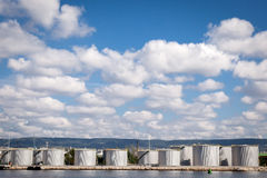Large tanks for petrol and oil Royalty Free Stock Images