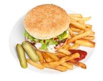 Large Tasty Cheeseburger Stock Photography