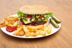 Large Tasty Cheeseburger Royalty Free Stock Image