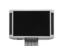 Large television set for translations Royalty Free Stock Images