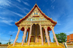 Large temple architecture against blue sky Royalty Free Stock Image