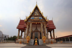 Large temple architecture at wat Sakae in Korat. Downtown, Thailand Royalty Free Stock Photo