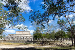 Large Temple in Chichen Itza Stock Photo