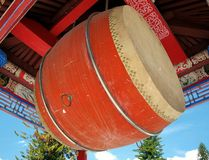 Large Temple Drum Stock Photo