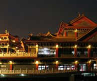 Large Temple by Night Stock Photos