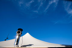 Large tent with a chimney Royalty Free Stock Photo