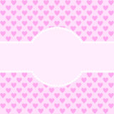 Large text field  edged with white hearts. Large text field edged with white hearts on a background of pink hearts in a square format Stock Photography