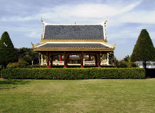 Large open-sided Thai pavilion in a park royalty free stock images