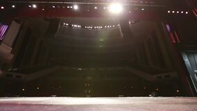 Large Theatre From Stage Lights Turn On