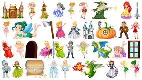 Large themed fantasy set. Illustration vector illustration