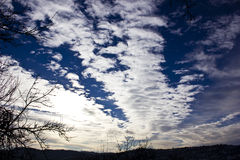 Large thin altocumulus clouds Royalty Free Stock Photography