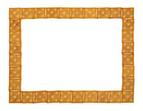 Large and thin frame of crackers Royalty Free Stock Photography