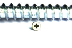 Large thread, a small screw Stock Image