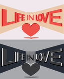 Large three-dimensional letters. vector illustration