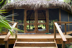 Large tiki hut building in florida park Stock Image