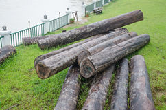 Large timber for construction. Stock Photo