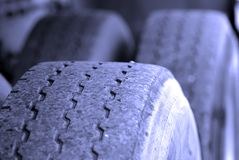 Large Tire Stock Photography
