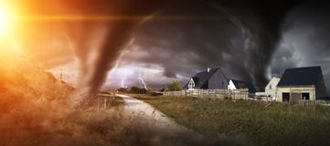 Large Tornado disaster Royalty Free Stock Photography