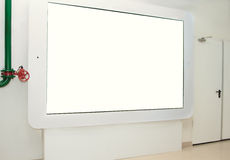 Large touchpad on the wall for display Stock Photo