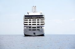 A large touristic cruiseship in Tyrrhenian Sea Royalty Free Stock Photos