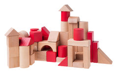 Large toy bricks building Royalty Free Stock Images