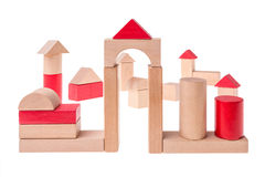 Large toy bricks building Stock Photos