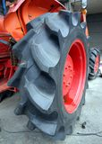 Large Tractor Tire Stock Images