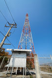 Large transmission tower. With sky royalty free stock photo