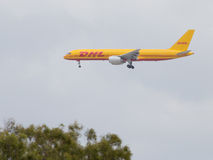 Large transport Boeing 757-236 / F DHL Air Stock Image