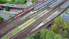 Large transport hub on the railway stock video footage